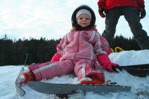 Kind beim Schifahren